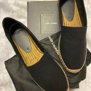 SAINT LAURENT CANVAS ESPADRILLE Size 42